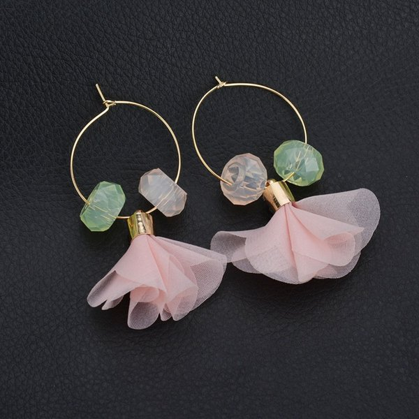 Cute Spring Color Leaf Beads Cheap Dangle Earrings Women 2019 New Design Bohemian Wedding Drop Statement Earring E1342