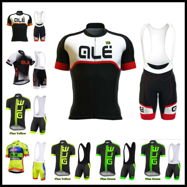 cycling Jersey 2019 ALE Team Men short sleeve Bicycle Bib Shorts Set Summer quick dry Bike Outdoor Sportswear Ropa Ciclismo Hombre