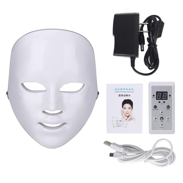 top popular 5pcs free shipping Photon Electric LED Facial Mask LED mask Light Beauty Skin 7 colors 3 colors women 2020