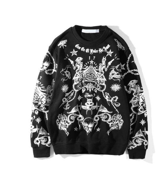 Европа United States Tide бренд толстовка мужчины дизайнер большой пуловер с вышивкой модная коробка с логотипом шею свитер красная марка