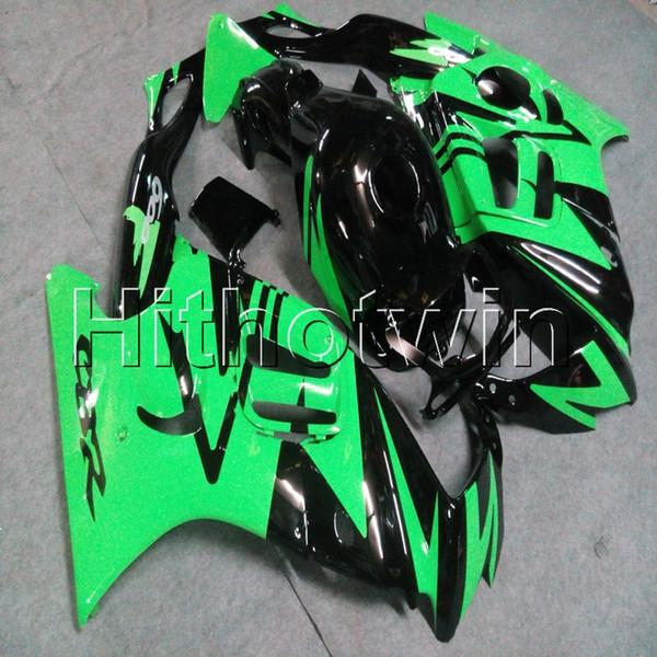 Botls + Gifts capucha de motocicleta verde negro para HONDA CBR600F3 1997-1998 F3 97 98 ABS plástico Motor carenado