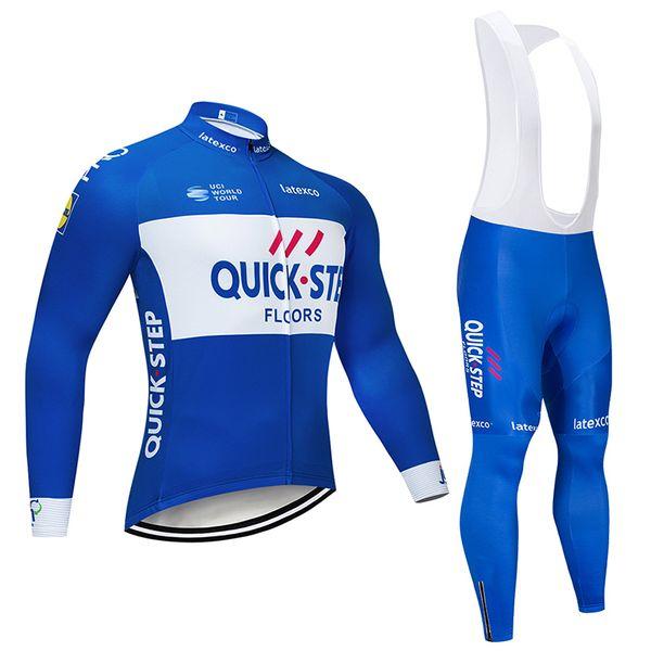 2019 QUICK STEP NEW Radtrikot LONG setzt Radtrikot 9D GEL maßgeschneidertes Ropa Ciclismo für kurze Zeit im Freien
