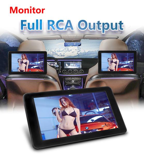 800 * 480 avec HD Radio écran AV pour autoradio DVD Player 9 pouces TFT LCD numérique écran voiture lecteur dvd appuie-tête moniteur tactile