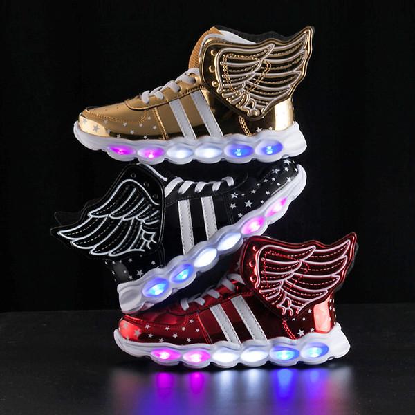 Chaussures transfrontalières exclusivement à LED pour le commerce extérieur, destinées au commerce extérieur et aux chaussures émettant de la lumière, chaussures de sport rechargeables USB pour