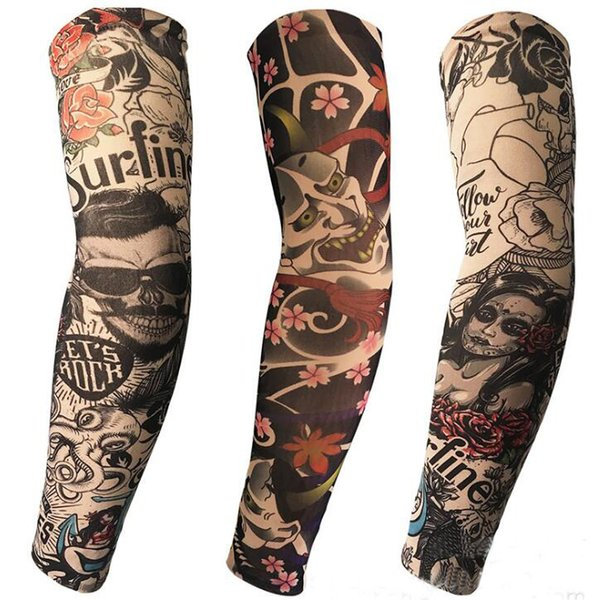 Tatyking Tattoo Sleeve New Wholesale Sunscreen UV Protection Ice Tattoo Set Sleeve Arm Set Large Flower Arm