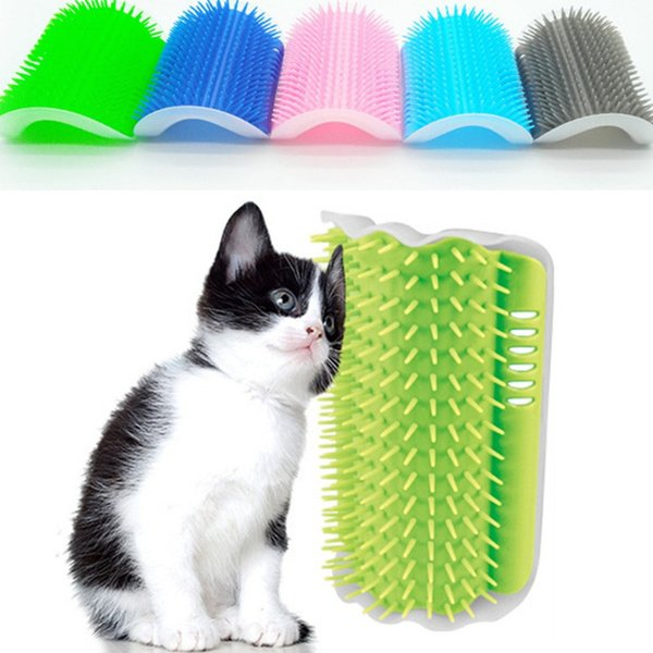 Pet Cat Self Groomer 9Colors Dog Cat Brush Pet Cat Grooming Tool Hair Removal Comb Hair Shedding Trimming tickling Massage Device WithCatnip