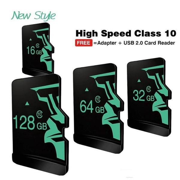 Commercio all'ingrosso fresco nuovissimo reale capacità Micro SD Card16GB ~ 128 GB scheda di memoria TF Trans Flash Card Mini scheda SD Class10 nuovo