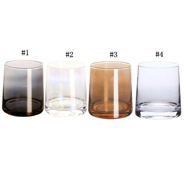 Bicchiere da 9 once Bicchiere da vino Bicchiere Moderna placcato in ioni di arcobaleno Trasparente Bicchieri per la casa Soggiorno Artigianato MMA1793