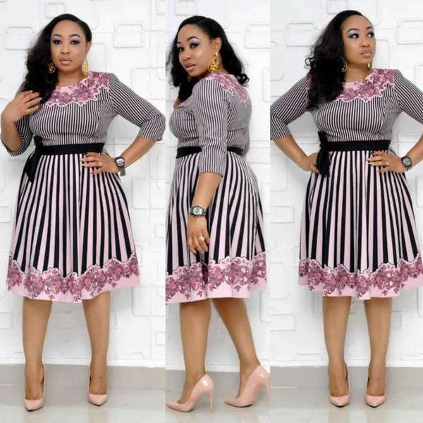 Kostenloser Versand 2019 African Dashiki kleidet neue Art und Weise Raum Schicht Fabri Bazin Elastic Partei Famous sexy Design Kleider für Dame