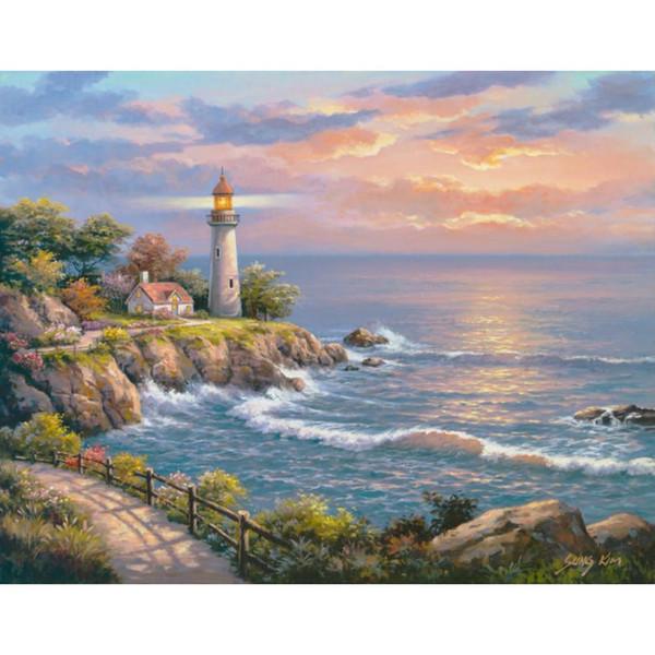 Acquista Paesaggi Marini Di Alta Qualità Dipinti Tramonto A Lighthouse  Point Paesaggi Dipinti A Mano A $126.64 Dal Reeme | DHgate.Com