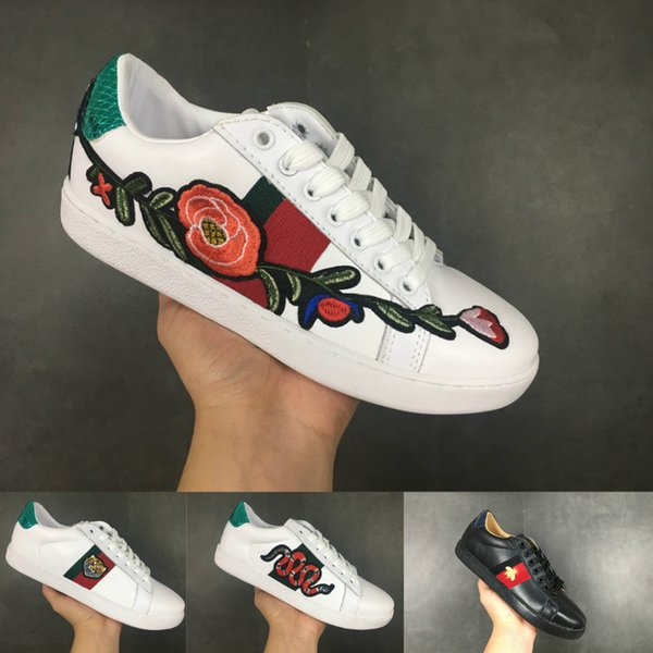 Gucci shoes luxury brand yeezy boost off white supreme vapormax tn Nike  low top italien marke ace bee streifen schuh walking sport trainer chaussures pour hommes5