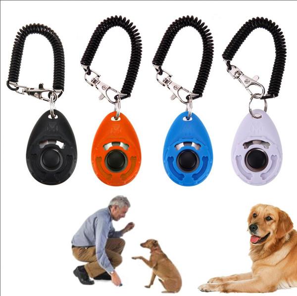 Pet Bark Clicker Deterrents Trainer Hund Welpen Training einstellbar Sound Handgelenk Schlüsselanhänger Universal Hundetraining Clicker AAA1558