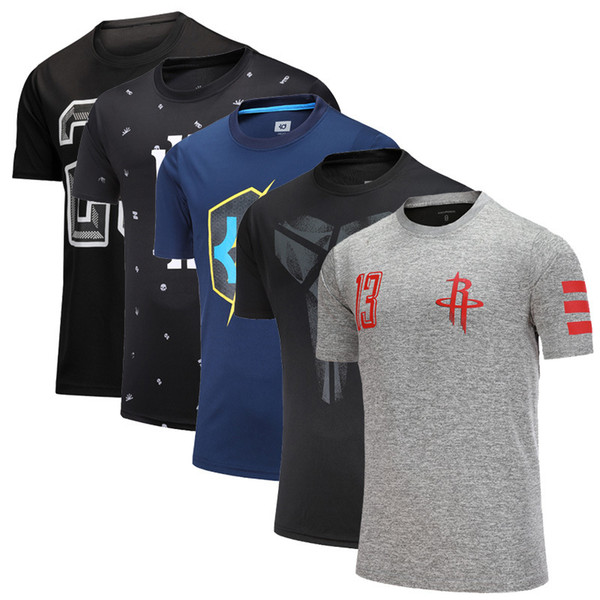Basketball short sleeve Men Kobe Owen Loose Quick drying Short sleeve Large size Run Breathable Fitness Sports t-shirt factory wholesale