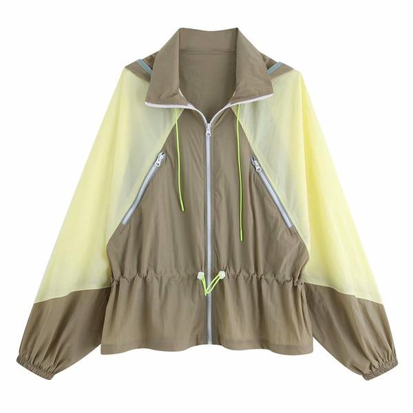 Moda kadın BB65-9474 Avrupa ve Amerikan Moda Renkli Ceket