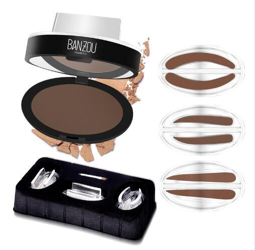 Newest Eyebrow Powder Seal Waterproof Eyebrow Stamp Shadow Set Natural Shape Brow Stamp Powder Palette 131-0425