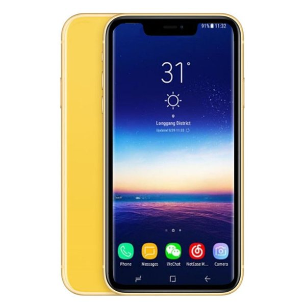 Goophone XR 6.1 inch MTK6580 Unlocked cell phone Quad Core cellphones 1GB RAM 4GB/8GB/16GB ROM Show 4GB/256GB Face ID wirless charger