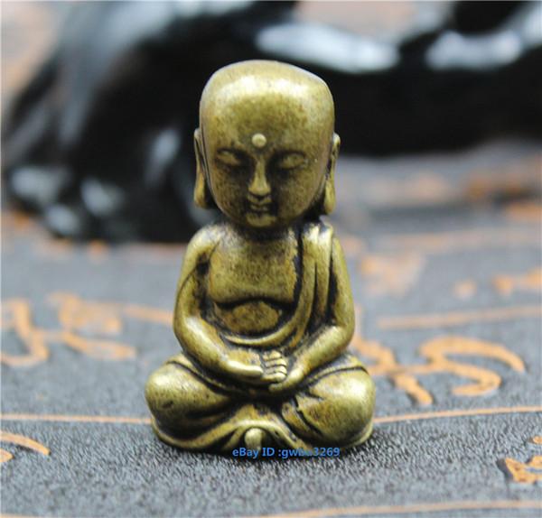 Коллекция китайской латуни Маленькая статуя Будды