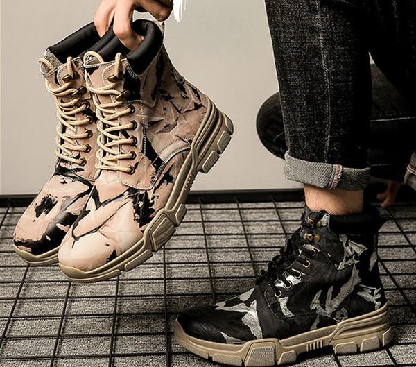 Erkekler Açık Kar Boots Kış Kaymaz İş Güvenliği Çelik Burun Kadınlar Boots Yürüyüş Balıkçılık Kar Yürüyüş Ayakkabı Artı boyutu 35-48