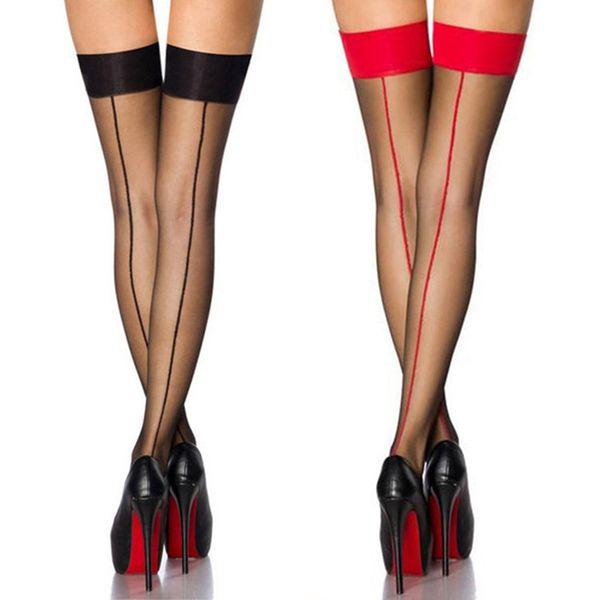 Meias das mulheres Jacquard Sobre O Joelho Meias Ficar Coxa Alta Meias De Seda Mangueira Senhoras Sexy Sheer Meia-calça Meia-calça