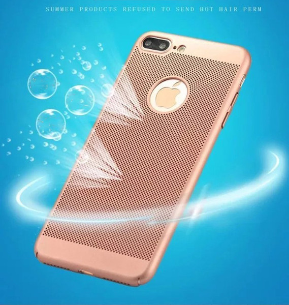 300pcs Iphone Case With Mesh Hole Hard PC Back Case For Iphone X S 8 Plus 7 6 6S SE 5 5S Heat MESH Hole Coverage Apple mobile phone case DHL