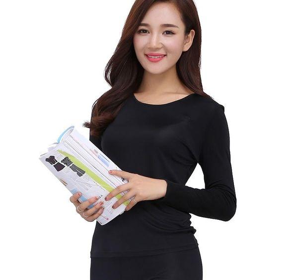 Wholesale- 100% Pure Silk Women s Long Johns Sets Women Winter Autumn Ladies Warm Home Clothing Thermal Underwear Set Female Body Suits