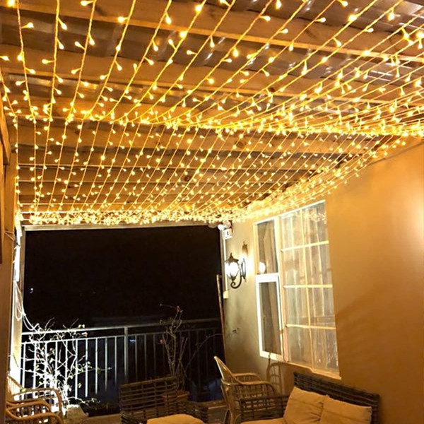 Multi Color 50m 400 Led Bulbs Fairy String Light Outside Hanging Windows Garden Christmas Party Wedding Holiday Decoration 220v Uk Eu Au String Patio