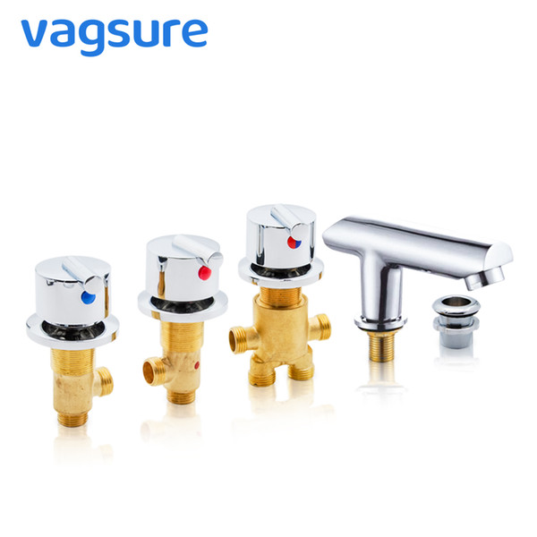 top popular Hot and Cold Water Copper Massage Bathtub Faucet Bathroom Shower Cabin Faucet Mixer Shower Room Mixing Valve Tap 2021