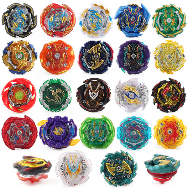 top popular Over 100 Styles Single Beyblade Booster Alter Spinning Gyro Without Launcher fidget spinner Starter String Booster Battling Bey blade blades 2020