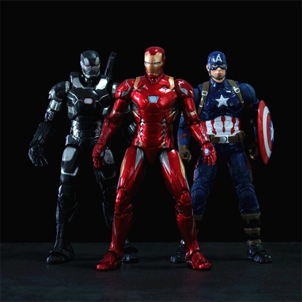 marvel avengers action figures toys 15 designs PVC iron man spiderman thanos hulk anime figure avengers toys with box Kids toys DHL SS237