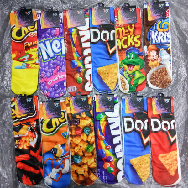 top popular 3D Printed one side Cartoon Women Girl Socks Cheerleader Long Socks Girls Animated and 3D Printing Adult 12 Inch Sports Stocking 17 Colors 2021
