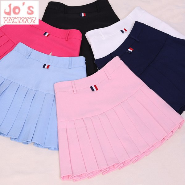 2018 High Waist Pleated Skirts Kawaii Harajuku Skirts Women Girls Lolita A-line Sailor Skirt Large Size Preppy School Uniform MX190709