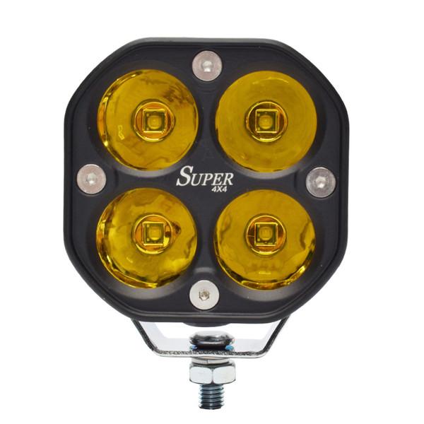 MOTO luz LED 40W 3 pulgadas LED de luces de trabajo del tractor coche de la luz para SUV 4X4 super carro ATV de la motocicleta 1 pieza amarilla