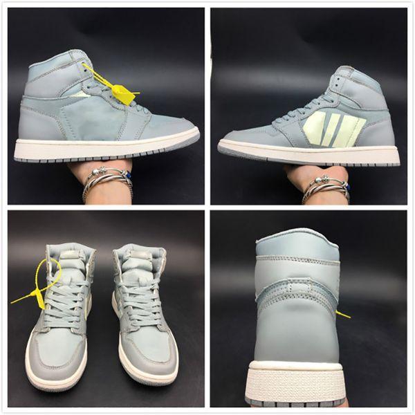Neueste Basketball Schuh 1 1 s Seide Grau Oberleder Frauen Mens Fashion 2019 Outdoor Sport Sneaker Hohe Qualität