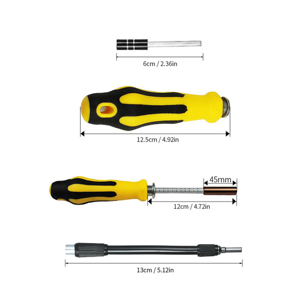 57 in 1 Multi-functional Telecommunication Tool Magnetic Torx Hex Slotted Phillips Screwdrivers Set Repair Tools Kit for phone