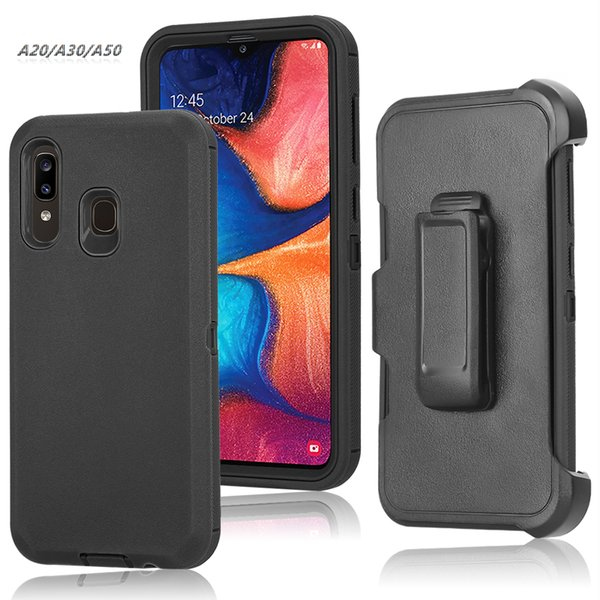 Turtle Cases Defender for Samsung Galaxy A20/A30/A50 Tough Protection with Kickstand Holster Belt Clip Combo Case Cover Screen Protector
