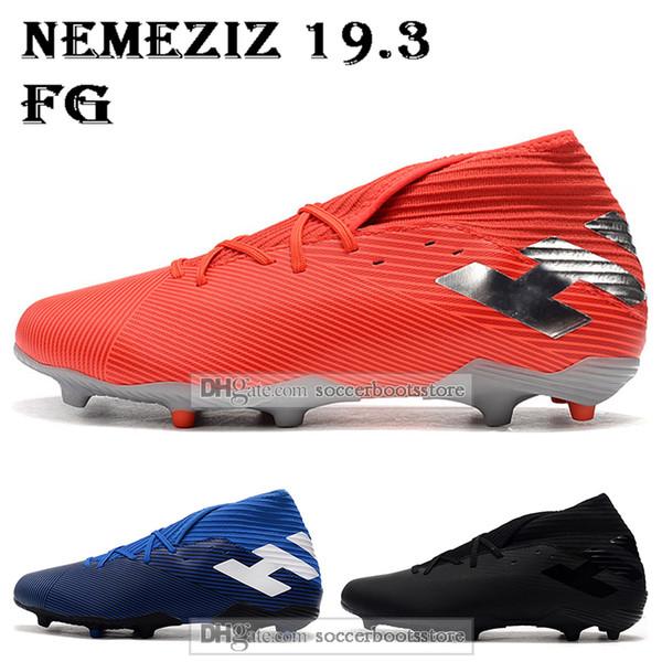 New Mens High Tops Football Boots Nemeziz 19.3 FG Soccer Cleats Nemeziz Messi 19.3 360 Agility Outdoor Soccer Shoes
