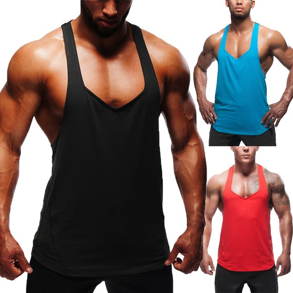 Mens Vest Sleeveless Casual Sport Tank Tops bodybuilding singlet muscle shirt stringer fitness clothing camiseta tirantes 2019