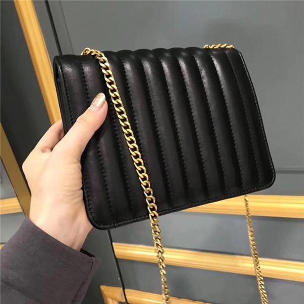 2019 Fashion classics New VICKY designer handbags logo quilting stitching flip bag leather lined magnet buckle back diagonal shoulder bfa08#