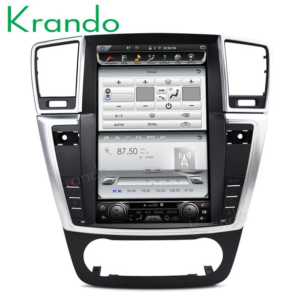 "Krando Android 6.0 12.1"" Tesla Vertical screen car dvd multimedia player for BENZ ML 2013-2015 auto radio gps wifi bt"