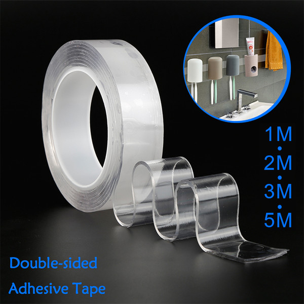 best selling Double-sided Gel Grip Tape Sticker Traceless Washable Adhesive Tape Nano Technology Reuse Removable Tapes Indoor Outdoor