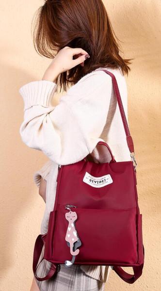 Oxford saco de ombro de pano feminino m389 nova versão coreana da moda maré senhoras mochila casual bolsa de ombro das mulheres de lona 11