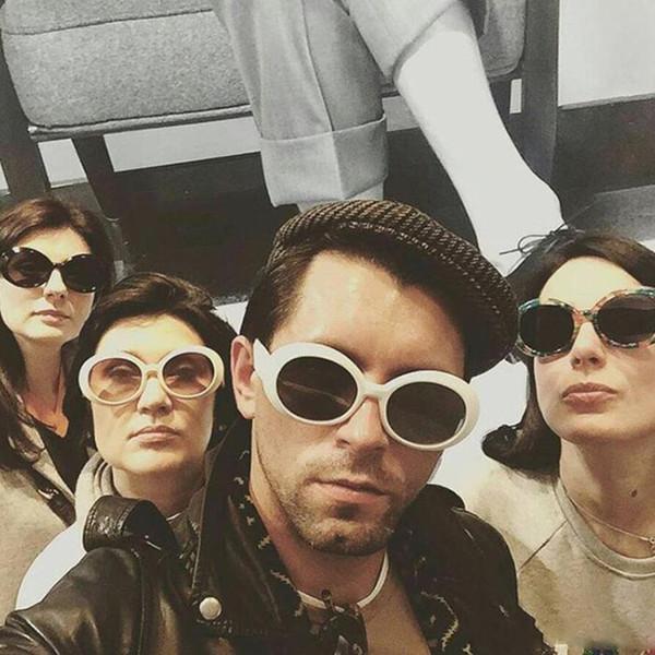Gafas protectoras Gafas NIRVANA Kurt Cobain Gafas de sol alienígenas Clásico Vintage Retro Blanco Oval Moda superestrella Gafas estilo punk rock