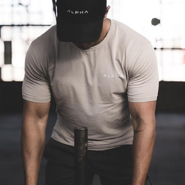 New Qucik Dry Gym Shirt Sport Shirt Men Rashgard Short Sleeve Fitness Running Tight T-shirt GYM Training Tshirt Jogging Tee Tops