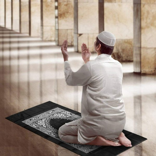 Portable Muslim Islam Prayer Carpet Rug Blanket Compass Islamic Prayer Blanket Carpets for Home Living Room Home Textile
