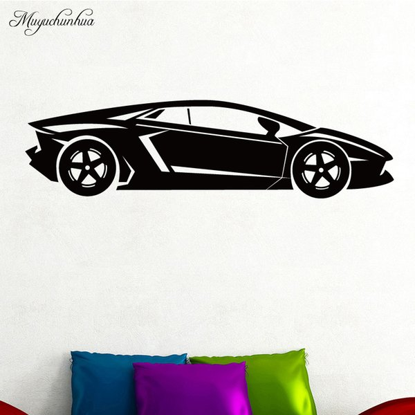 Cool Sports Car Wall Art Decal Wall Sticker Mural For Home Decor Living Room Bedroom Diy Waterproof Home Decoration Accessories Kitchen Wall Decals