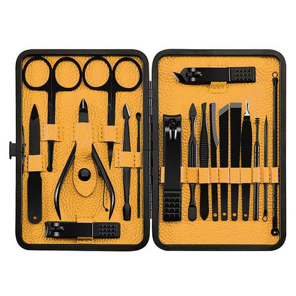 Hot 18 Stücke Nagelknipser Set mit Aufbewahrungskoffer Edelstahl Maniküre Pediküre Pflege Tools Kit XJS789