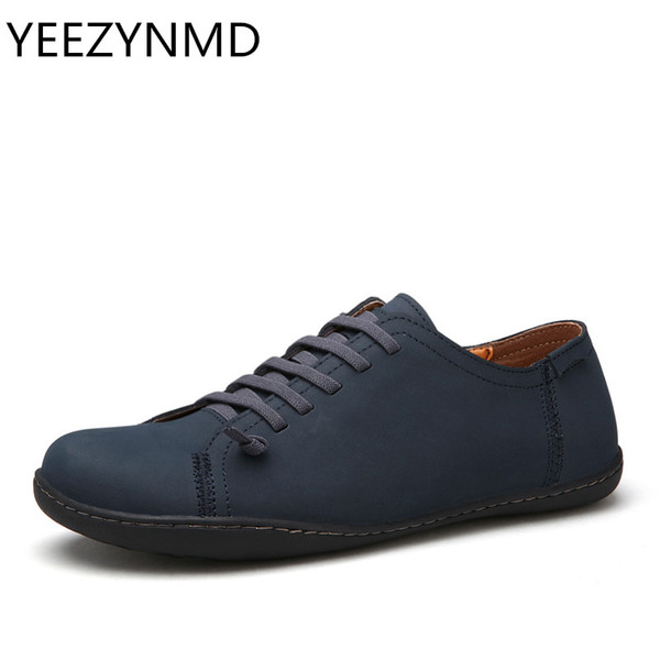 Neue 2018 Herren Schuhe Aus Echtem Leder Herren Handmade Casual Fashion Designer Slip On Espadrilles Blau Braun Schwarz Männliche Schuhe