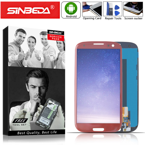 Sinbeda For Samsung Galaxy S3 III S3 i9300 i9305 i747 T999 i535 LCD Screen Touch Display Lens Digitizer Screen Assembly