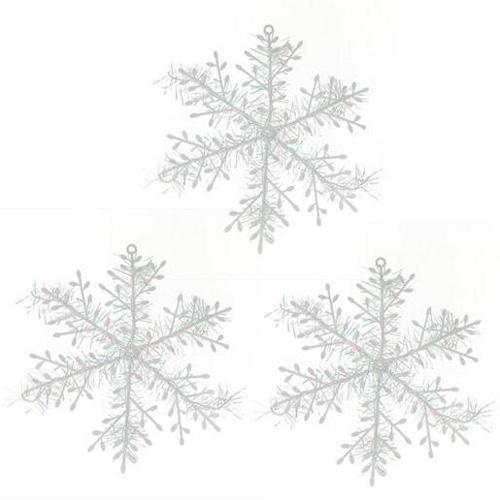 11 cm de diámetro de Navidad decoraciones para árboles de navidad decoración blanca del partido del ornamento del copo de nieve artificial para el hogar Año Nuevo envío libre