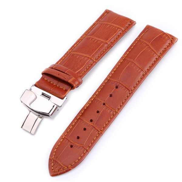 Alta Qaulity Unisex cuero reloj banda mariposa broche hebilla envío de la gota